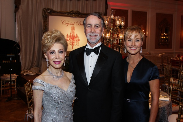 Margaret Alkek Williams, from left, with Charles and Randa Williams at the Huffington Center on Aging Gala November 2013