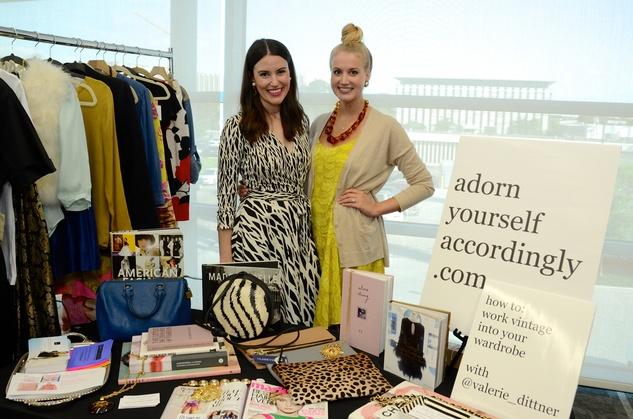 Valerie Dittner, left, and Michaela Williams at WOW's Membership Drive June 2014