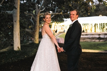 Austin couple transforms workplace romance into Hill Country wedding