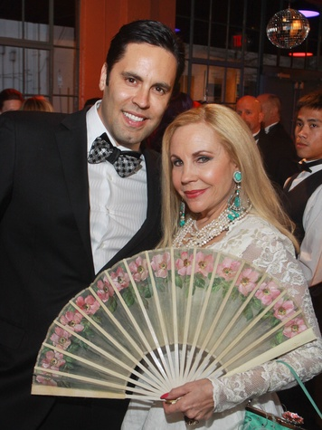 Stages Repertory Theatre gala, April 2013, Gabe Canales and Carolyn Farb