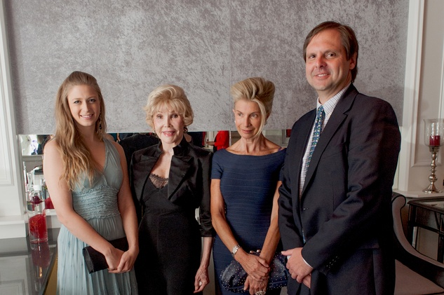 21 Princess Tatiana Galitzine, from left, Joanne King Herring, Duchess Catherine de Gramont and John Moore Jones