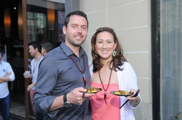 Simon Miller and Erika Fenton at the Curry Crawl May 2014