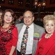 News, Shelby, Mayor's Hispanic Holiday Party, Dec. 2014 Mary Closner, Ed Ybarra, and Lolita Guerrero