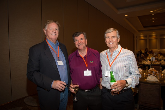 02 Larry Dierker, from left, Kenny Hand and John Egan at the Dan Pastorini golf benefit October 2014