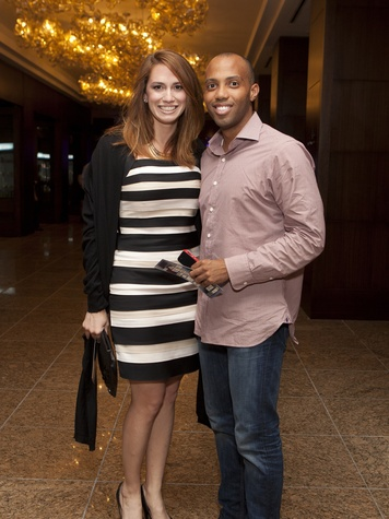 Stephanie Zimmer and Barry Hammond at the Royal Sonesta Hotel renovation unveiling November 2013