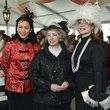 17 Y. Ping Sun, from left, Mayor Annise Parker and Becca Cason Thrash at Hats in the Park March 2014