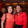 Dr. Christine Le, left, and Tamera Washington at the Texas Film Awards Event February 2015