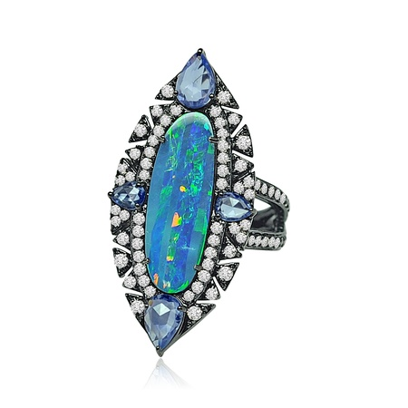 Sutra Opal Cocktail Ring - SJR317B.