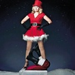 Kim Cattrall as sexy Santa on chimney