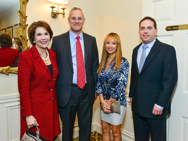 Lisa Shumate, from left, Demi Rand, Stephen Schwartz and Michael Naul at the Center for Houston's Future dinner October 2013