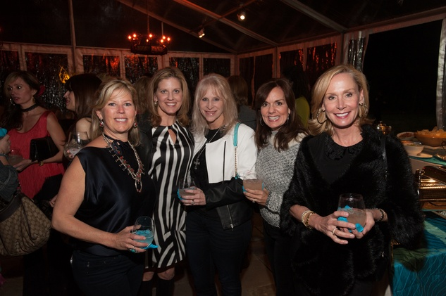 18A- Paige Johnson, from left, Ashley Langley, Mindy Burr, Angela Poujol and Jennifer Fitts at the Clayton Dabney fundraiser March 2014