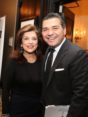 102, Saks Fifth Avenue Donna Karan Ambassadors party, November 2012, Dancie Ware, Albert Rubio