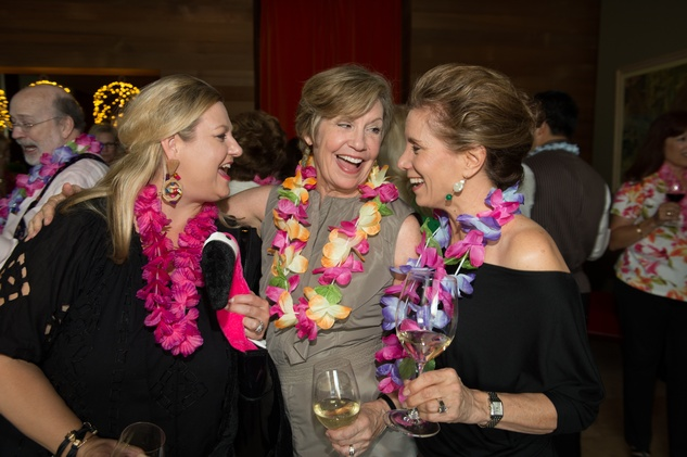 7 Katrina Arnim, from left, Lenni Burke and Mary Alice Parmet at the Flock and Flamingle event September 2014