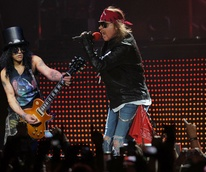 Slash and Axl Rose from Guns N' Roses