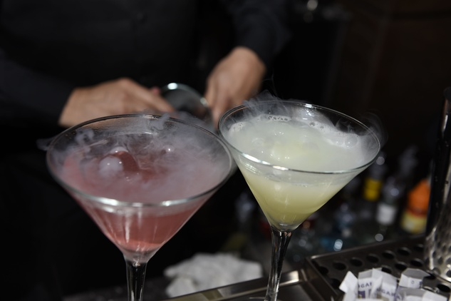 2 Cocktails at the opening of Mastro's Steakhouse in NYC November 2014