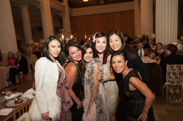 Lily Zhang, from left, Chloe DiLeo, Sineha Merchant, Mandy Kao, Ming Burdett and Chau Nguyen at The Women's Home Gala November 2014