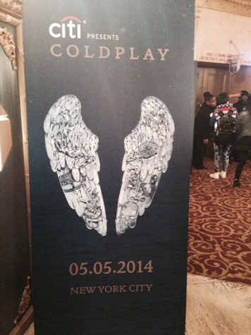 Jane Howze Cold Play concert in New York May 2014 billboard