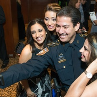 12 Rania Mankarious, from left, Rita Garcia and Adrian Garcia at the Crime Stoppers Gala November 2014