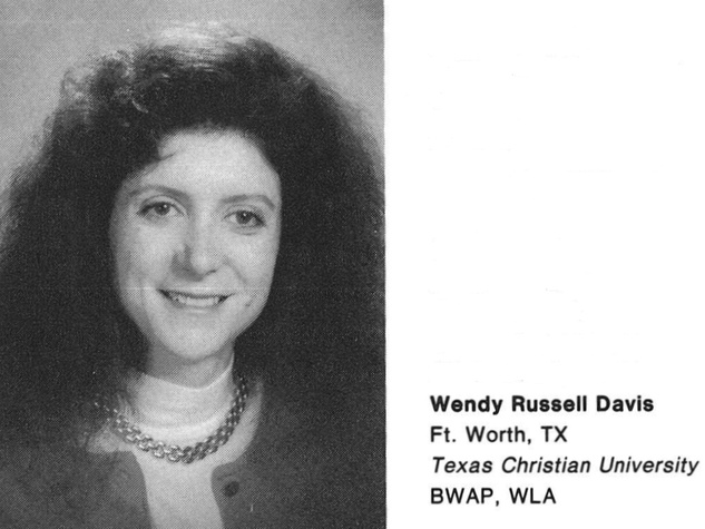 Wendy Davis Harvard Law yearbook Spring 1991