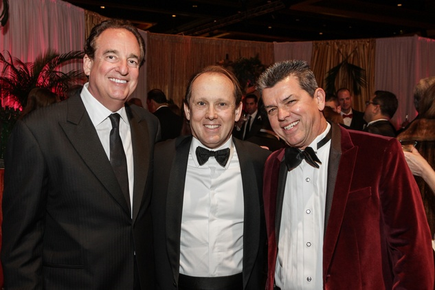 Alan Stein, from left, Franco Valobra and Don Murphy at the Winter Ball January 2015