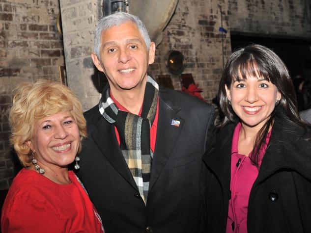 Yolanda Black Navarro, from left, Robert Gallego and Veronica Chapa Jones at the Mayor's Hispanic Advisory Board Holiday Party December 2013