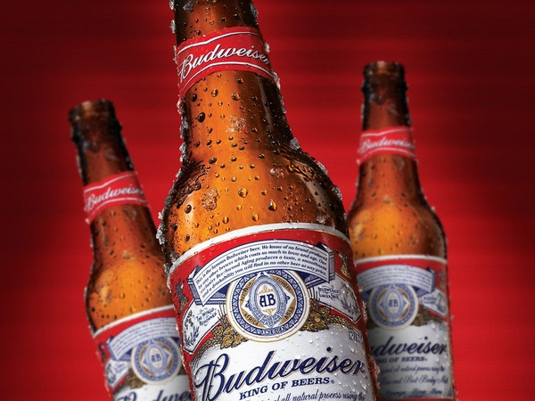Budweiser, bottles, beer