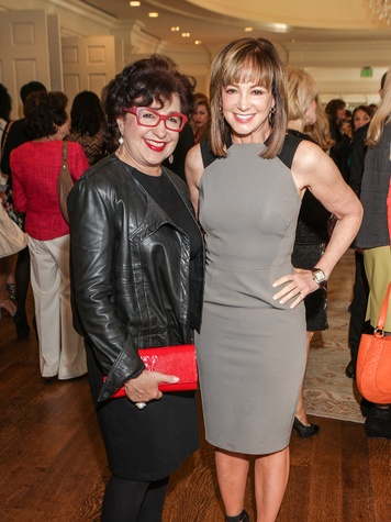 Roz Pactor, left, and Janet Gurwitch at the Passion for Fashion luncheon March 2014