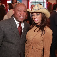 Sylvester Turner, Charisma Glassman at Mayor's Rodeo Kickoff Breakfast