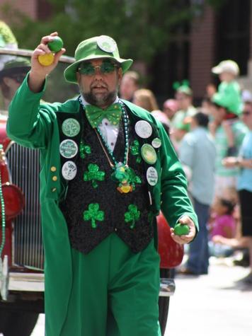 St. Patrick's Day Parade Houston, March 2013, juggler