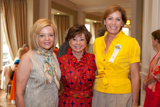 Stephanie Smith, from left, Pam Holm and Polly Bowden at the DePelchin Children's Center luncheon April 2014