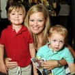 News, Shelby, MD Anderson Children's Fashions, August, 2014, Sherri Porter with Benjamin and Samuel
