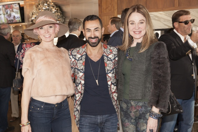 Vivian Wise, from left, Fady Armanious and Becca Cason Thrash at Neal Hamil's birthday party November 2014