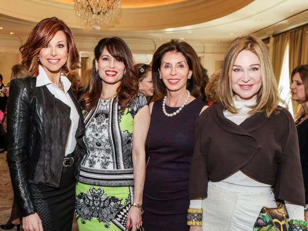 Dominique Sachse, from left, Karina Barbieri, Judith Oudt and Becca Cason Thrash at Passion for Fashion luncheon March 2014