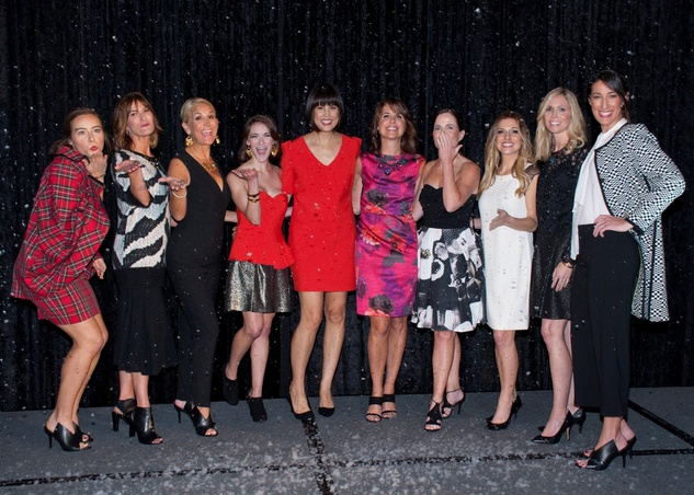 Finale with models and Trina Turk at the Spring Branch Education Foundation luncheon November 2014