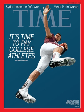 Time magazine with Johnny Manziel on cover September 2013