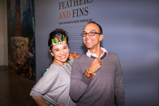 Julia McGowen and Jeff Luna at the MFAH Art Crowd Party November 2014