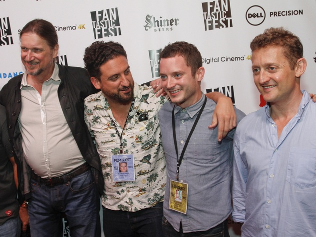 Grand Piano red carpet with Elijah Wood, Don McManus, Eugenio Mira, and Alex Winter at Fantastic Fest