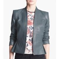 nordstrom Mural Strong Shoulder Faux Leather Jacket