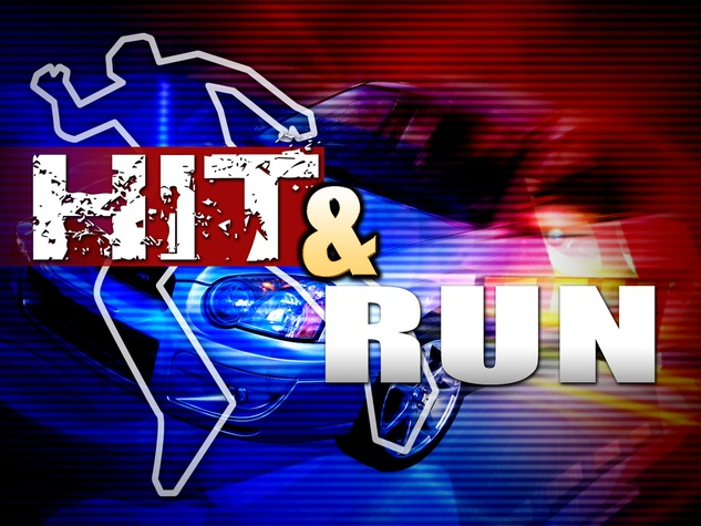 car accident hit and run police lights