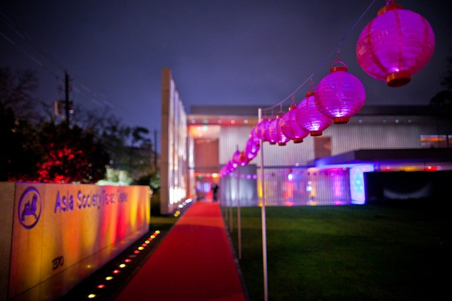 5 Paper lanterns line the walkway at the Asia Society Tiger Ball March 2015