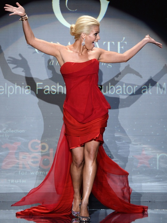Jill Martin walks the runway at Go Red For Women February 2014