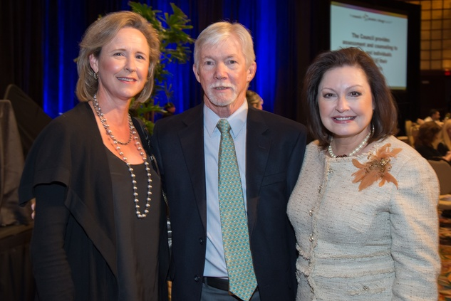 11 Sarah Foshee, from left, Mel Taylor and Minerva Perez at The Council Fall Luncheon November 2014