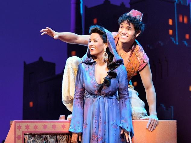 Courtney Reed (Jasmine) and Adam Jacobs (Aladdin) in Aladdin