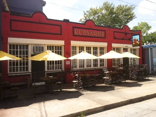 Rudyard's British Pub Houston bar exterior umbrellas