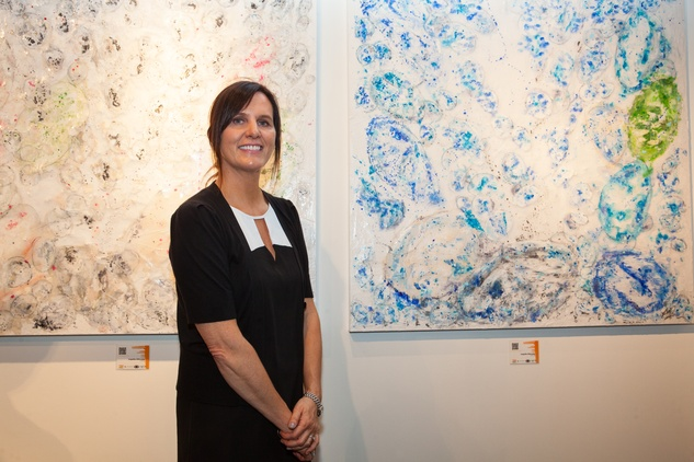 News, Shelby, Muir Gallery mural party, July 2015, Angelika Millmaker