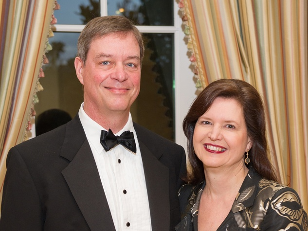 Dan Piette and Doreen Stoller at the Preservation Houston Cornerstone Dinner February 2014