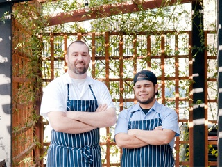 Executive Chef Brian Zenner and Sous Chef Rudy Mendoza of Belly & Trumpet restaurant in Dallas