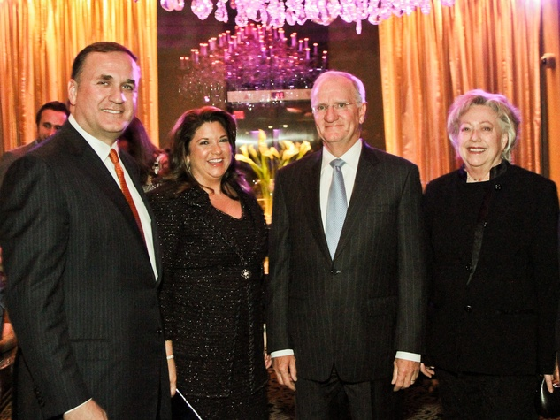 Fund for Teachers dinner, October 2012, Steve Trauber, Leticia Trauber, Walt Smith, Mary Lou Smith