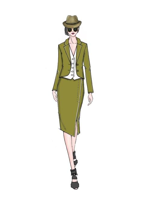 Taoray Wang inspiration sketch New York Fashion Week spring 2016