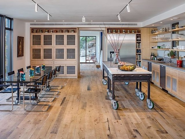 Austin cliff home Houzz open concept kitchen